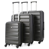 Aerolite Hard Shell Luggage Set | Charcoal