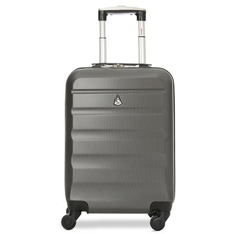 Aerolite (55x35x20cm) Lightweight Cabin Luggage | Charcoal