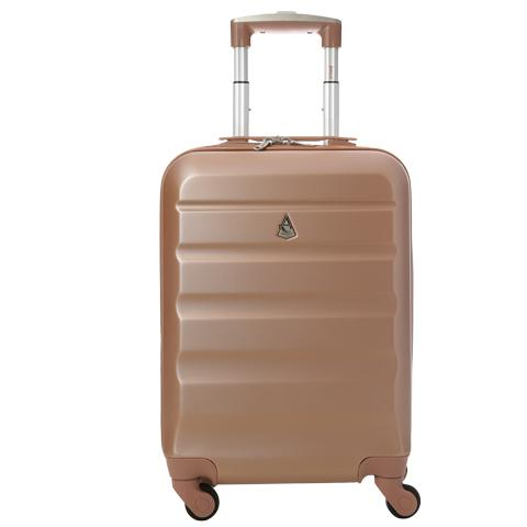 Aerolite (55x35x20cm) Lightweight Cabin Luggage | Rose Gold