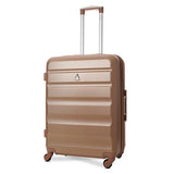 Aerolite (69x50x27cm) Medium Hard Shell Suitcase | Rose Gold