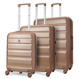 Aerolite Hard Shell Luggage Set | Rose Gold