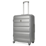 Aerolite (69x50x27cm) Medium Hard Shell Suitcase | Silver