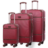 Aerolite Vintage Classic Hard Shell Suitcase Set (Cabin + Medium + Large Hold Luggage Suitcase)