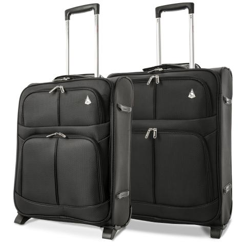 Aerolite (56x45x25cm) Lightweight Cabin Luggage | Black