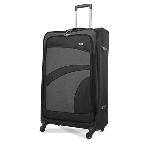 Aerolite (75x47x30cm) Large Suitcase | Black & Grey