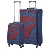 Aerolite Soft Shell Luggage Set | Cabin & Large | Navy & Plum