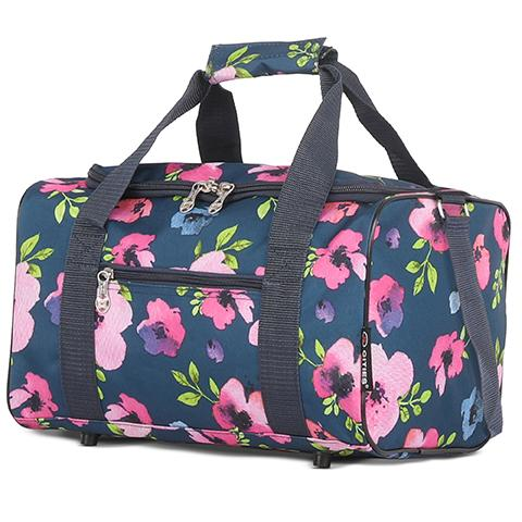5 Cities (35x20x20cm) Holdall Bag | Navy Floral