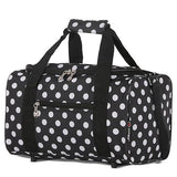 5 Cities (40x20x25cm) Holdall Bag | Black Polka