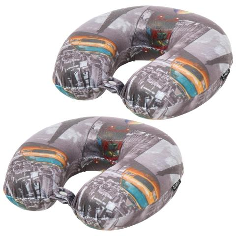 Aerolite Travel Pillow Neck Memory Foam Cushion (x2 Set)