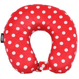 Frenzy Neck Travel Pillow | Polka Dots Red