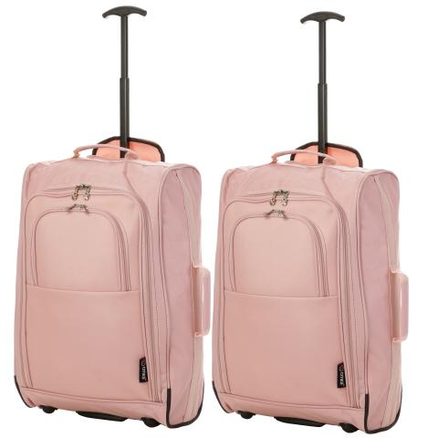 5 Cities (55x35x20cm) Cabin Luggage | Rose Gold