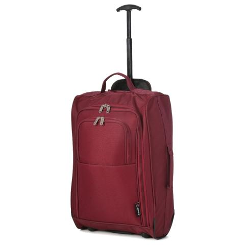 5 Cities (55x35x20cm) Lightweight Cabin Luggage | Wine