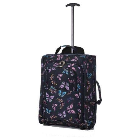 5 Cities (55x35x20cm) Cabin Approved Trolley Bag - Navy Butterflies