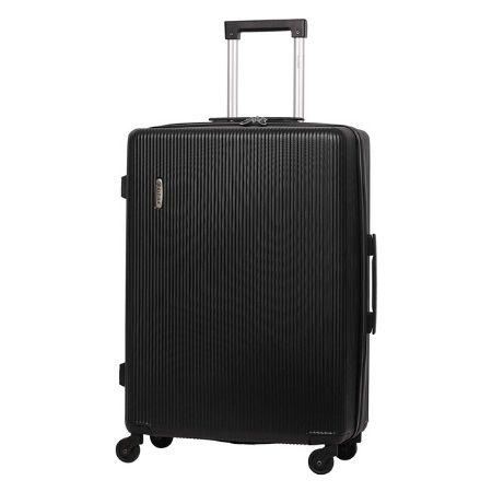 "5 Cities (71x49x26cm) Medium 25"" Lightweight ABS Hard Shell Hold Check in Luggage Suitcase with 4 Wheels - Black"