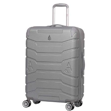 "Aerolite Large 116L Lightweight ABS Hard Shell Travel Hold Check in Luggage Suitcase with 8 Wheels, 29"" (Silver)"