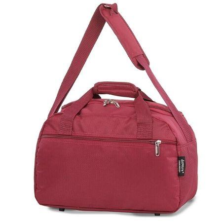 Aerolite (40x20x25cm) Hand Luggage Holdall Bag - Wine