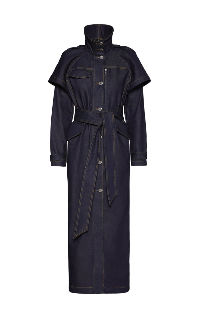 Denim Trench Coat - BRANDON MAXWELL