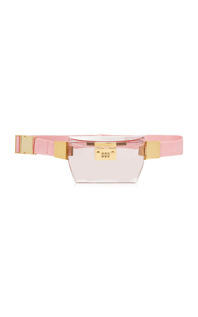 Plexi Fanny Pack with Lock Hardware - BRANDON MAXWELL