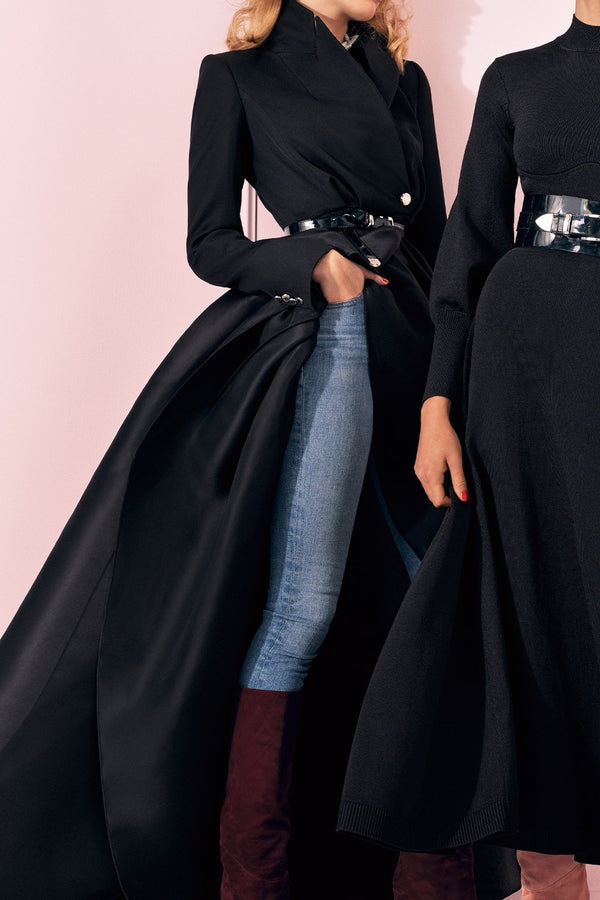 Twill Statement Jacket with Gazaar Skirt - BRANDON MAXWELL