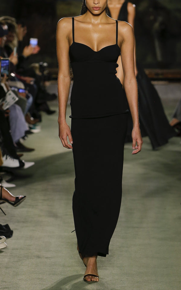 Knit Dress with Bustier Top - BRANDON MAXWELL
