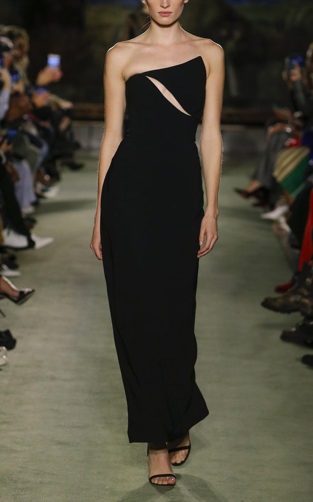 Wool One-Shoulder Gown with Cutout Detail - BRANDON MAXWELL