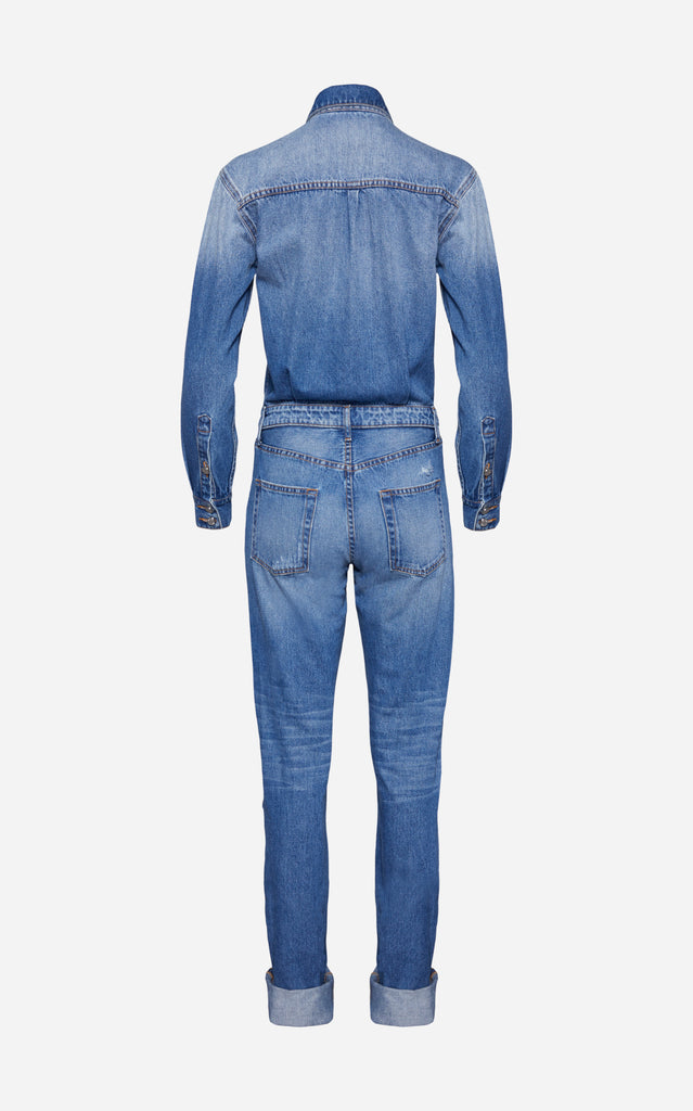 Relaxed Denim Jumpsuit - BRANDON MAXWELL