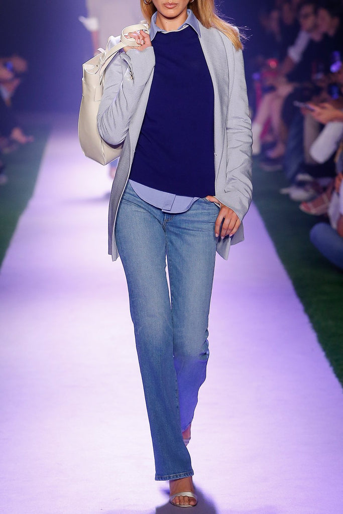 High Rise Jeans with Straight Leg - BRANDON MAXWELL