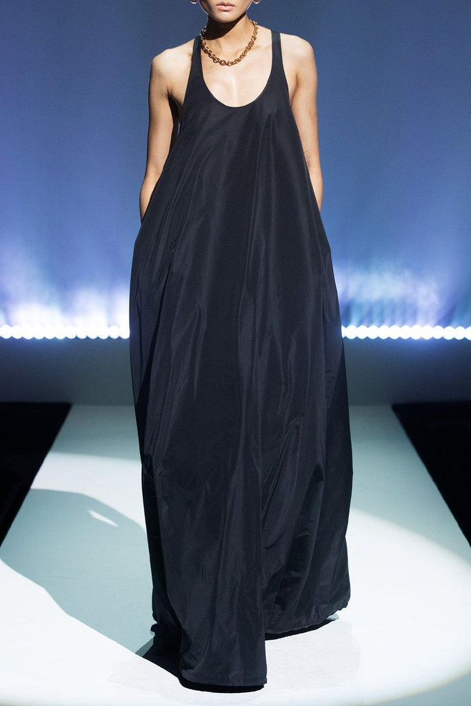 Taffeta Racerback Gown with Scoop Neck - BRANDON MAXWELL