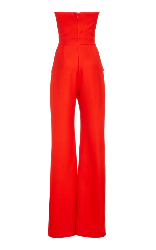 Classic Woven Strapless Wide Leg Jumpsuit - BRANDON MAXWELL