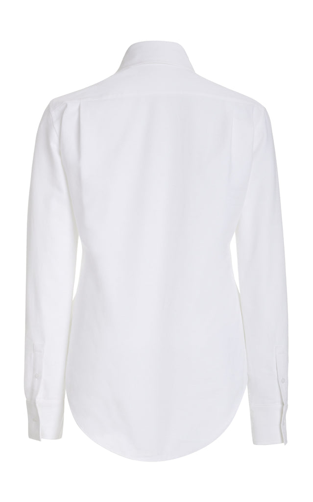 Piqué Cotton Button Down Shirt - BRANDON MAXWELL