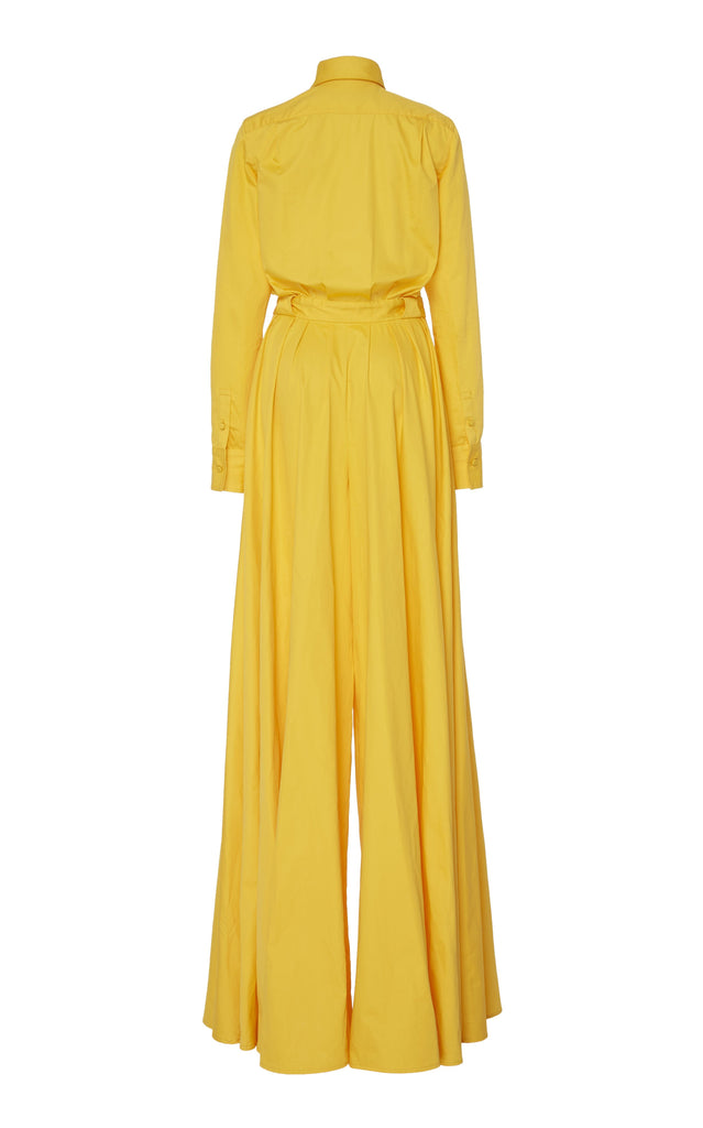 Cotton Button Down Jumpsuit - BRANDON MAXWELL