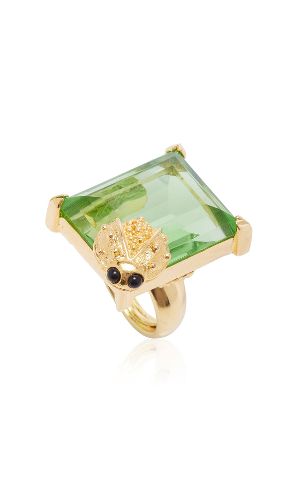 Stone Ring in Collaboration with Kenneth Jay Lane