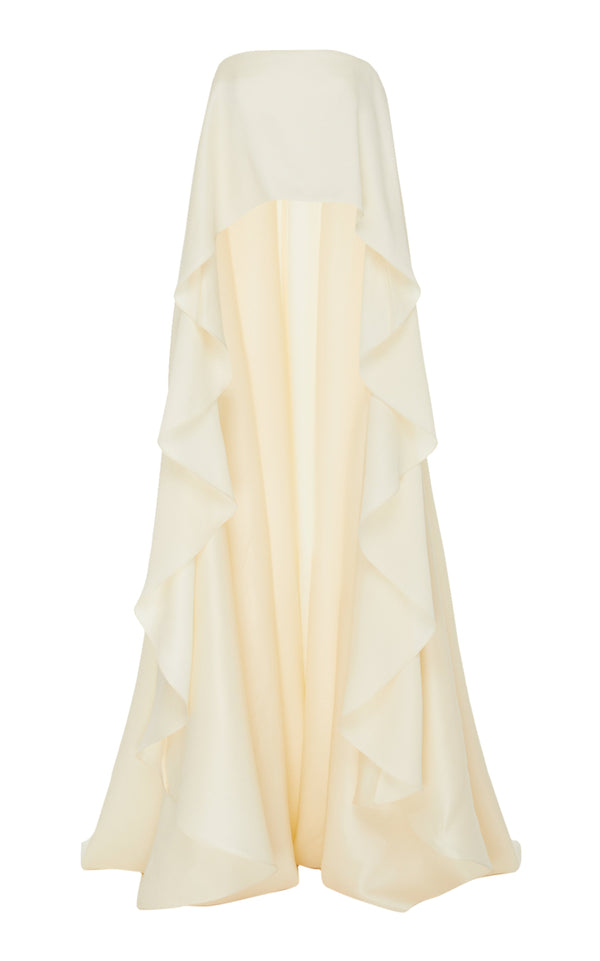 Wool Silk Strapless Gown Top - BRANDON MAXWELL
