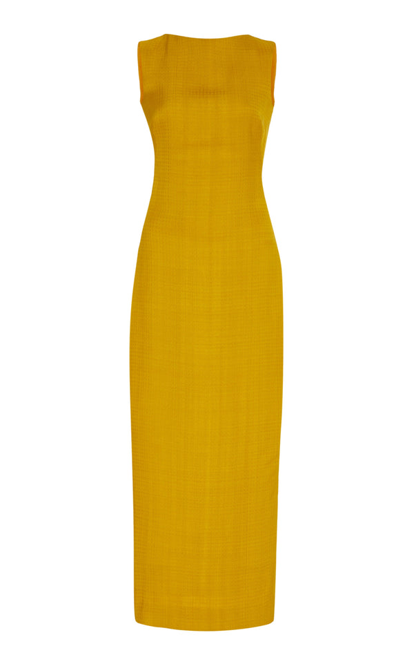 Linen Weave Sheath Dress - BRANDON MAXWELL