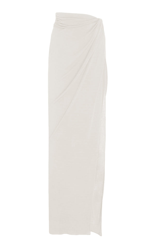 Jersey Draped Skirt with Side Slit - BRANDON MAXWELL