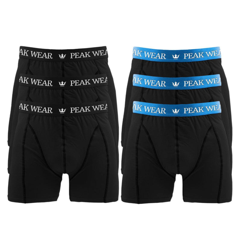 6 Par PEAK WEAR Boxershorts Blå - 123Marked