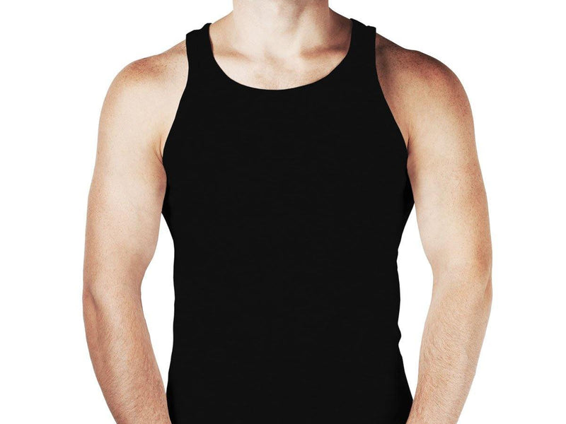 12 stk Sorte Premium Tanktops - 123Marked