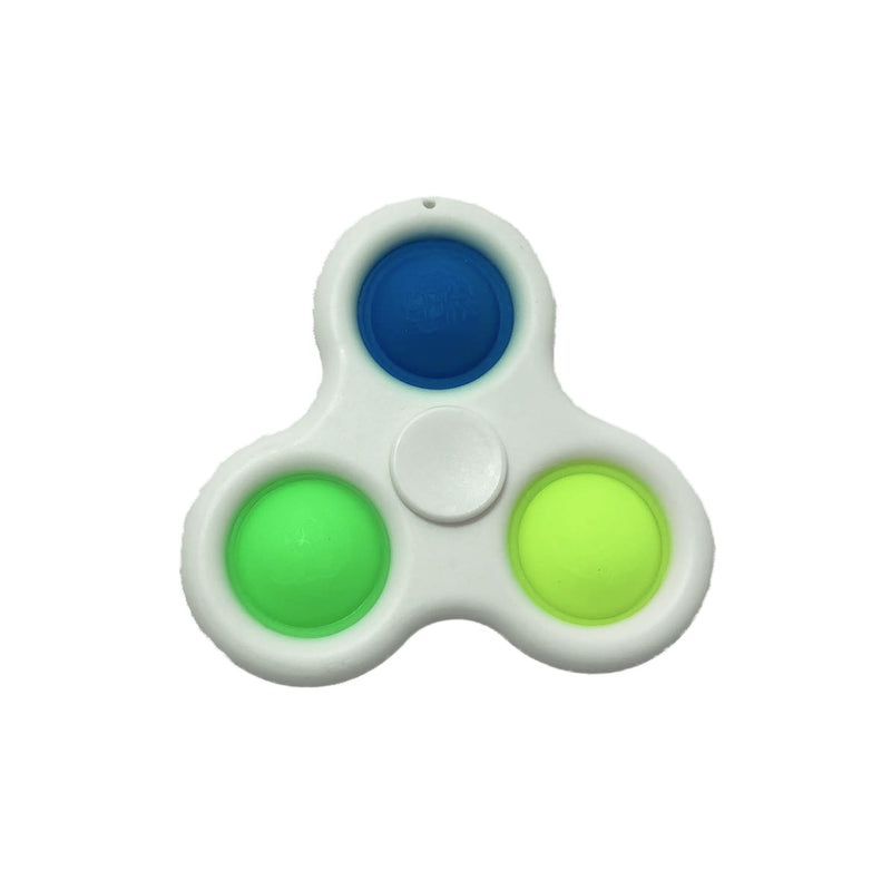 Simple Dimple Spinner fidget - Hvid - 123Marked