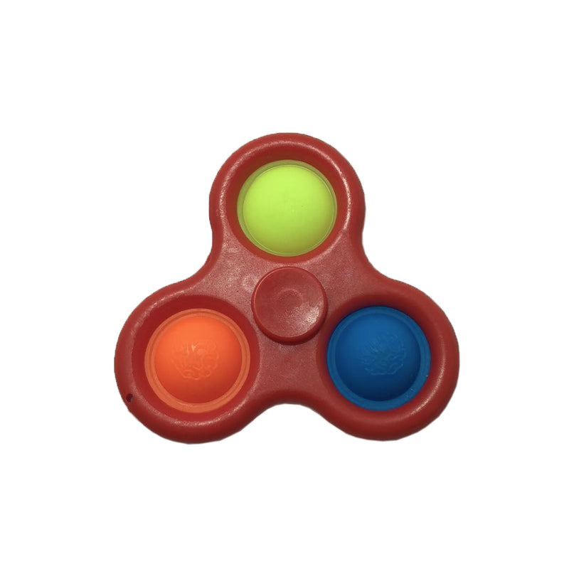 Simple Dimple Spinner fidget - Rød - 123Marked