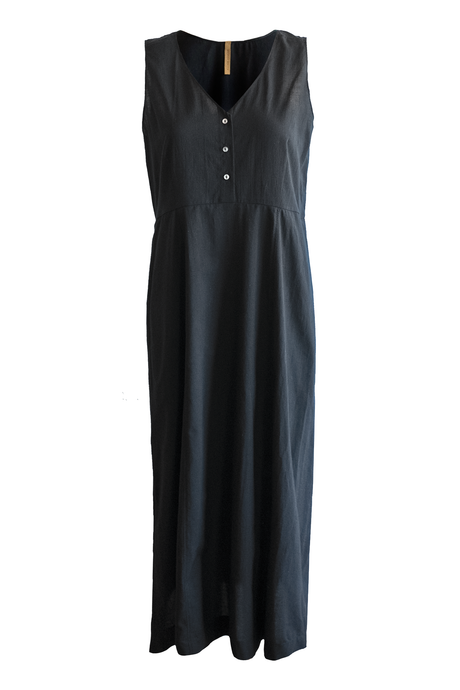 Cotton Lawn Daygown - Black