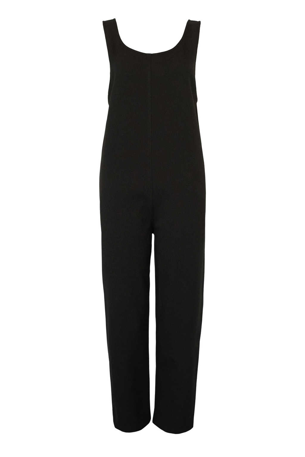 Chunky Weave Jumpsuit - Black