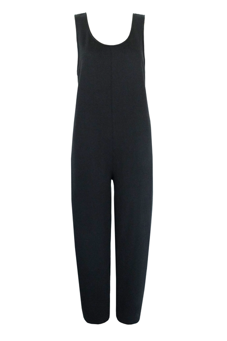French Terry Jumpsuit - Black