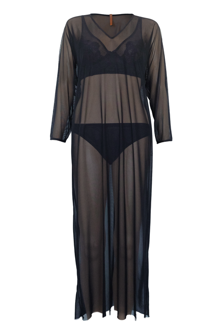 Sheer Caftan - Black