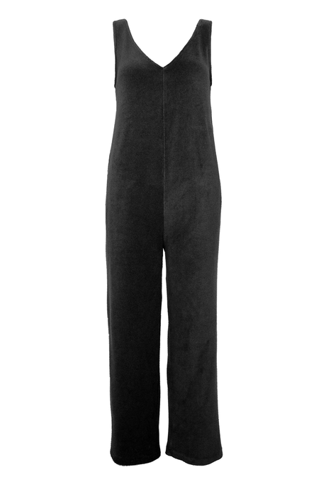 Terry Cloth Jumpsuit - Black