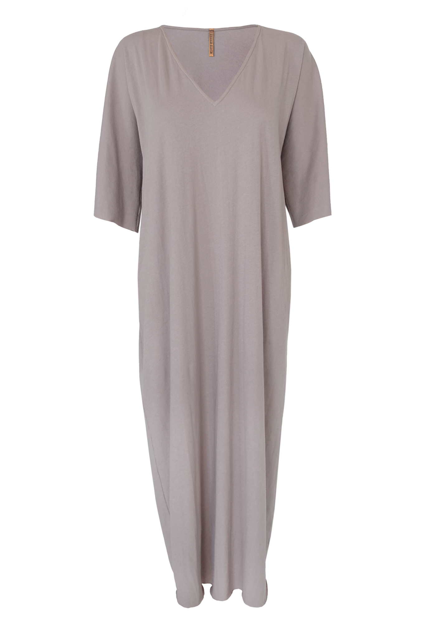Cotton Jersey Caftan - Buff