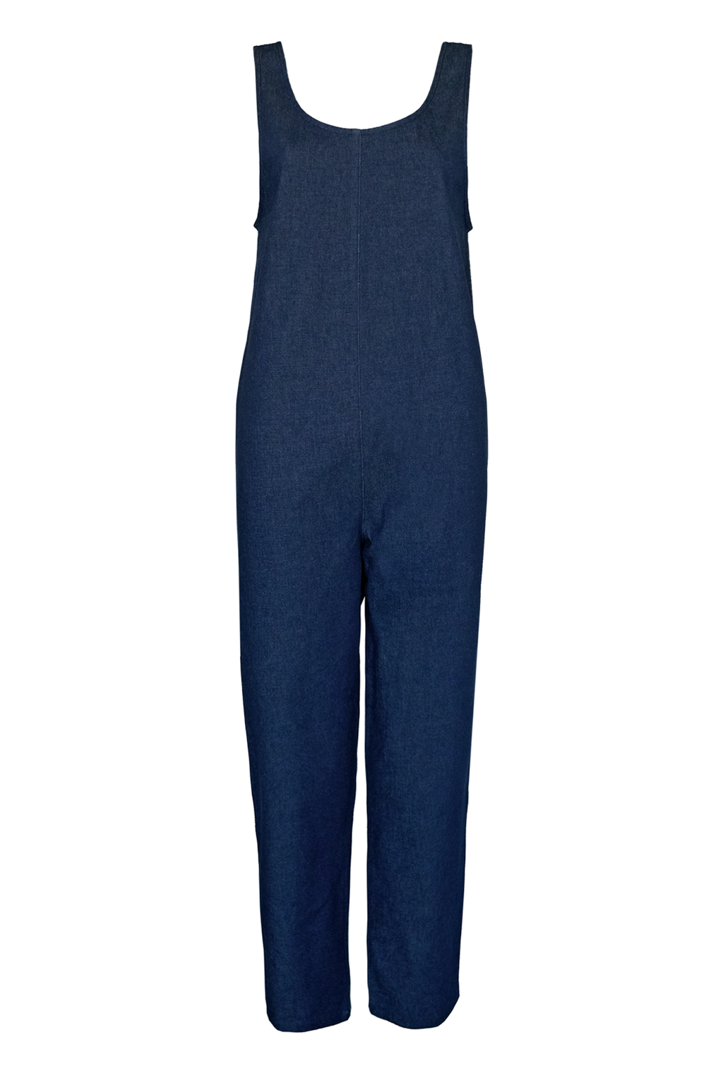 Denim Stretch Jumpsuit - Dark Blue
