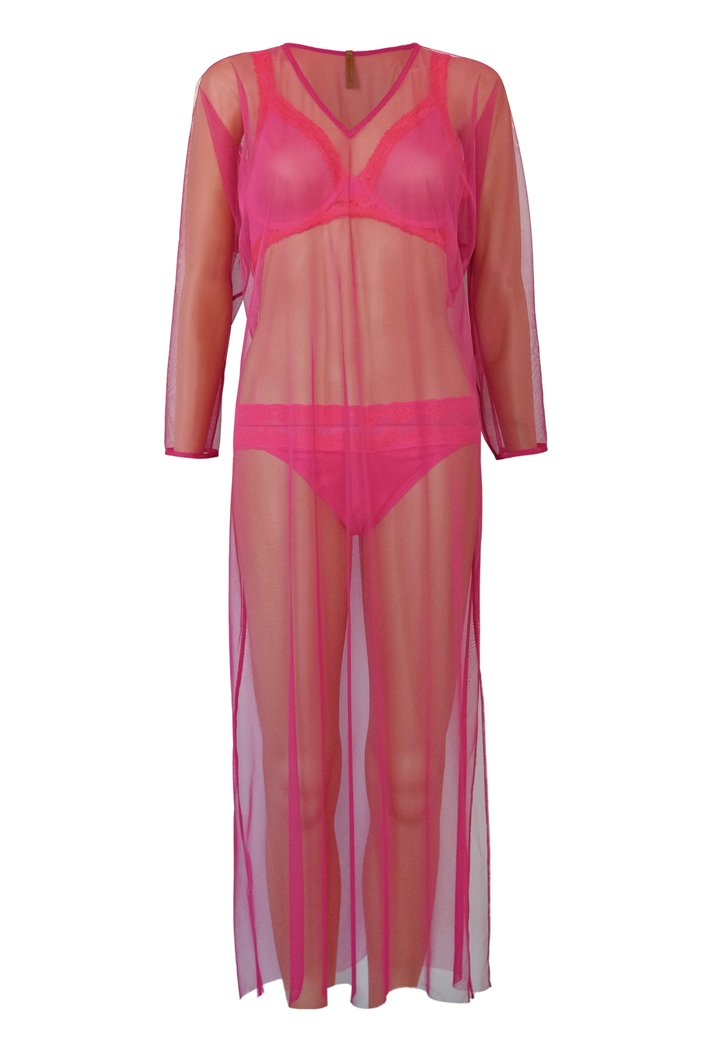Sexy Mesh Caftan - Pink