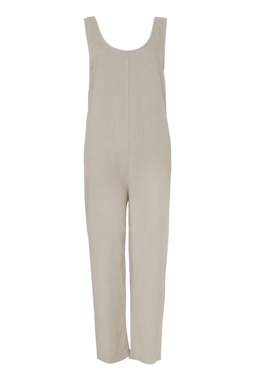 Brushed Blend Jumpsuit - Sand
