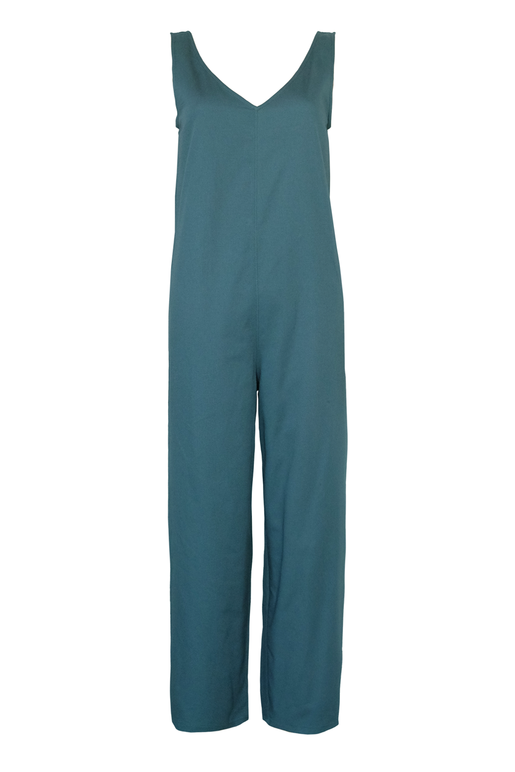 Cotton Twill Jumpsuit - Teal