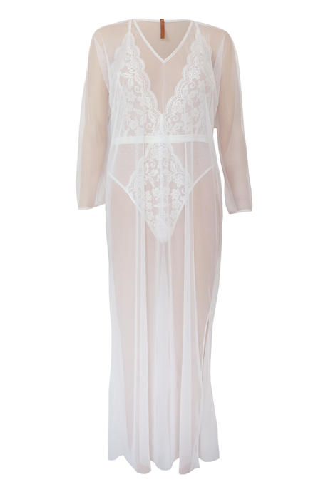 Sheer Caftan - White
